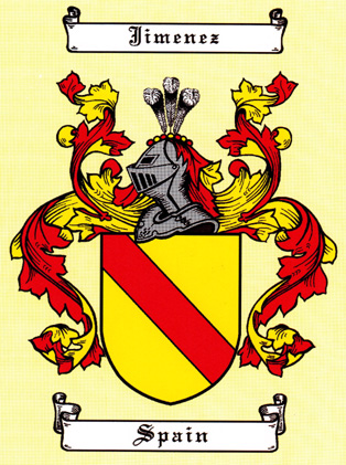 Jimenez Family Coat of Arms Image (125k)